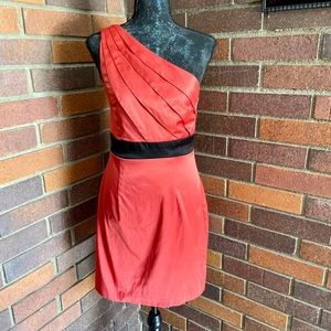 Byer California B Wear Too Coral One Shoulder Dres